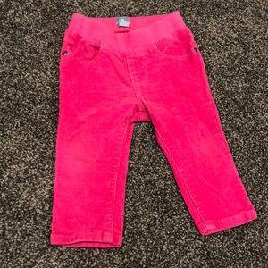 baby GAP pink corduroy pants